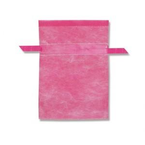 不織布巾着袋 Wシャンテタイプ S 無地 ピンク 10枚