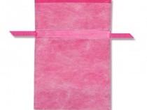 不織布巾着袋 Wシャンテタイプ M 無地 ピンク 10枚