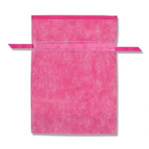不織布巾着袋 Wシャンテタイプ L 無地 ピンク 10枚