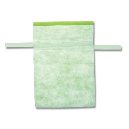 不織布巾着袋 Fバッグ Wシャンテタイプ L ライトグリーン 10枚