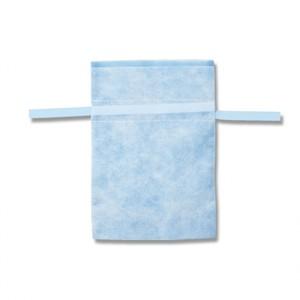 不織布巾着袋 Fバッグ Wシャンテタイプ S ライトブルー 10枚