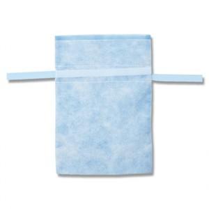 不織布巾着袋 Fバッグ Wシャンテタイプ M ライトブルー 10枚