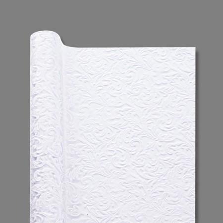 ラッピングペーパー カービングロール No.4 ホワイト 1本