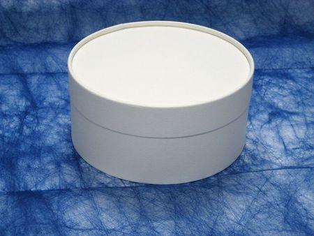 エコマル(フタ身式) 125 ホワイト  直径125xH75