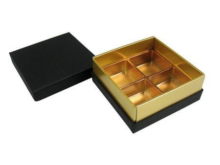 貼箱 トリュフ4ケ用 ブラック 85x85xH33mm 5ケ入