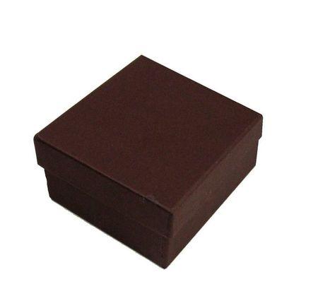 貼箱 正方形Sこげ茶 90x90xH40mm 5ケ入