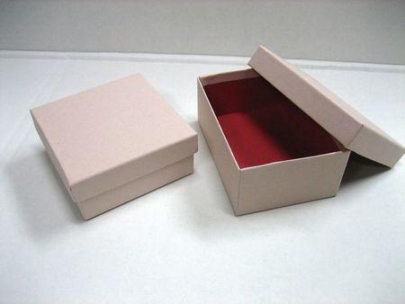 貼箱 正方形S ベージュ 90x90xH40mm 5ケ入