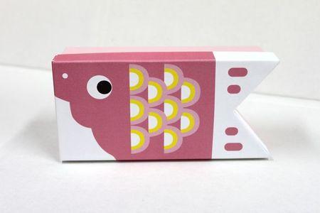貼箱 こいのぼり 小 ピンク  1ケ入