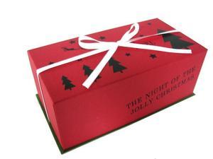 台付BOX クリスマス(リボン付)  5ケ入