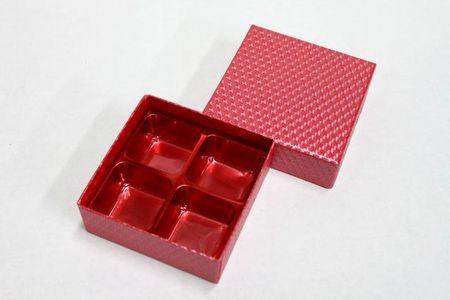 貼箱 トリュフ4ケ用 赤 5ケ入